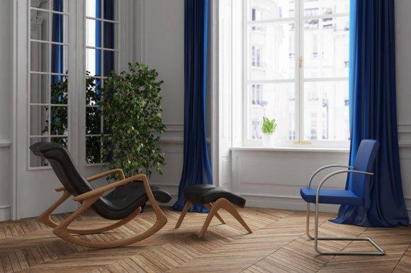 Société professionnelle pour la pose et l'installation de parquet stratifié dans un salon à Pézenas